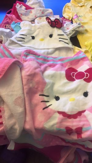 Hello kitty bath or beach towels for Sale in Linthicum Heights, MD