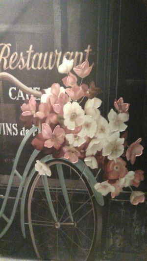 """PAINTING """"BIKE AND BLOOMS' """" (LITHOGRAPH) for Sale in Stockton, CA"""