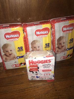 Huggies Diapers/Wipes Bundle for Sale in East Hartford, CT