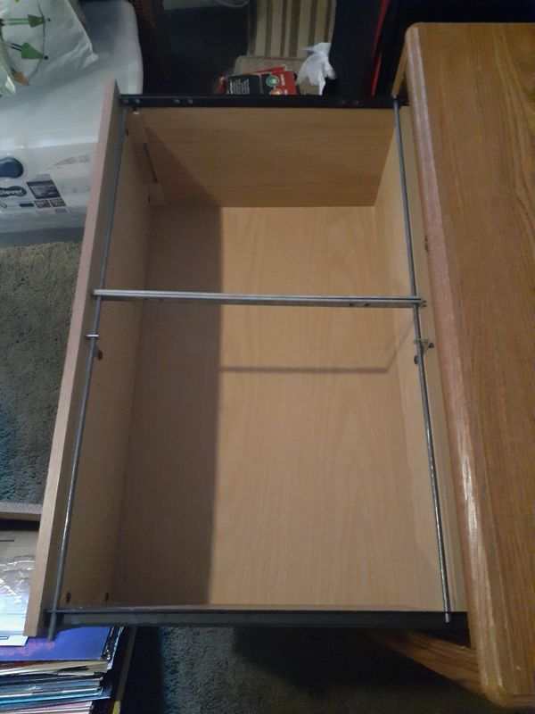 Two Drawer Filing Cabinet (Wood)