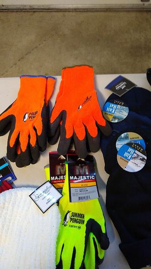 Lot of new clothes, socks, gloves, beanie hats, scarf, shirt for Sale in Snohomish, WA