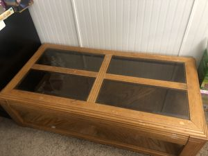 Coffee table with four glass inserts for Sale in Bel Aire, KS