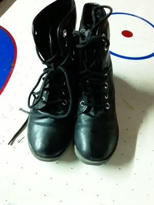 GIRLS SZ 2 ROCK & CANDY BLACK LEATHER BOOTS for Sale in Plant City, FL