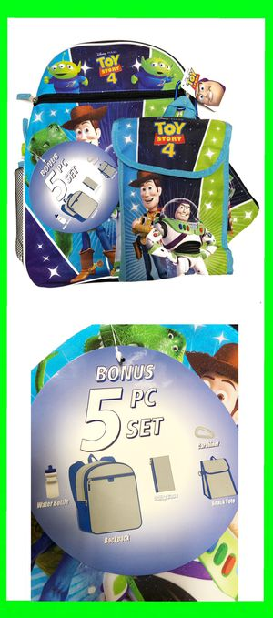 NEW! Disney Toy Story 4 Backpack Set woody buzz lightyear forky school book lunch bag travel bag kids bag Christmas gift for Sale in Carson, CA