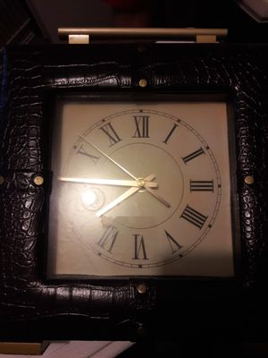 Antique leather clock for Sale in Cicero, IL