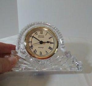 Crystal Legends By Godinger 24% Lead Crystal Quartz Mini Mantle Clock for Sale for sale  Norcross, GA