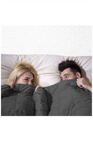 Adults Weighted Blanket (20 lbs,80''x87'',King Size,Dark Gray) 100% Cotton and Glass Beads - 2.0 Heavy Blanket with Storage Bag for Sale in Montclair, CA
