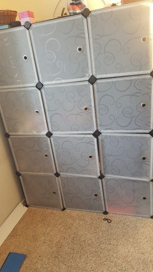 Modular cube diy shoe racks, storage drawer. Plastic cabinet with doors, closet for Sale in Fremont, CA