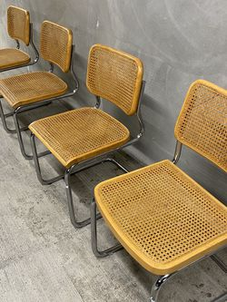 Set of 4 (FOUR) Marcel Breuer Cesca Thonet Dining Chairs Cane RARE Excellent for Sale in Kirkland,  WA