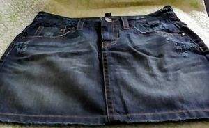 NEW. Victoria's Secret. Vintage. Distressed Jean mini skirt with silvertone stud detailing. Size 2 for Sale in Danvers, MA