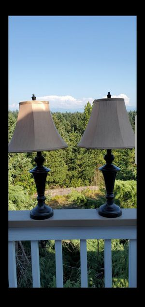 Two Bronze Table Lamps for Sale in Puyallup, WA