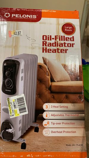 DeLonghi Oil-Filled Radiator Space Heater, Quiet 1500W. for Sale in Alexandria, VA