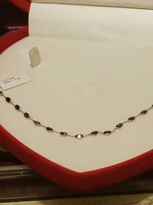 14K GOLD WITH NATURAL SAPPHIRE BRACELET for Sale in Springfield, VA