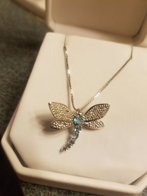 10k/14k Blue Topaz dragonfly necklace for Sale in West Columbia, SC