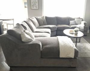 Very Nice Grey/Brown Sectional, Can Deliver! for Sale in Salt Lake City, UT
