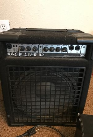 Bass amp back line 110 bass guitar amp for Sale in Houston, TX
