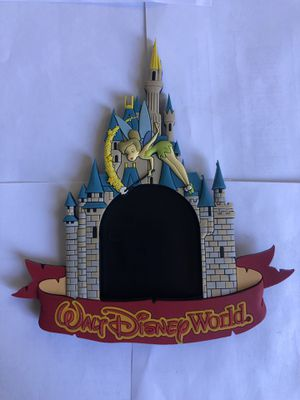 Walt Disney World Cinderella Castle Picture Frame Tinkerbell Refrigerator Magnet for Sale in Washington, DC