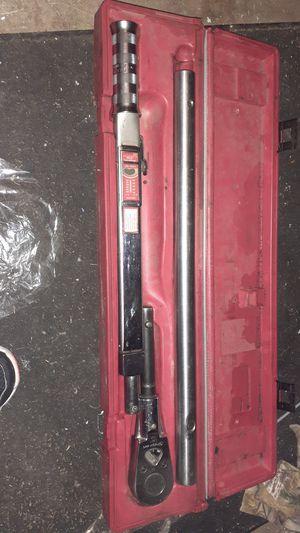 Snap on tqr 600b torque wrench $400 obo for Sale in Salt Lake City, UT
