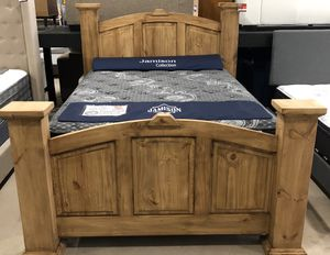 Rustic Queen Bed Frame Only for Sale in Siloam Springs, AR