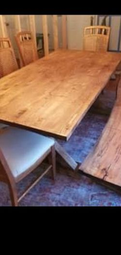 7 Foot Farmhouse Table And 7 Chairs for Sale in Pleasant View,  TN