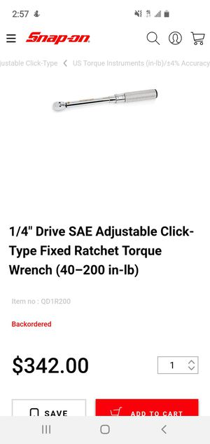 Snap on torch wrench 40- 200 in lb for Sale in San Antonio, TX