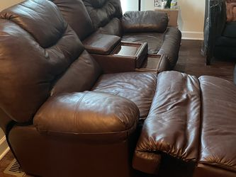 Brown Leather Recliner Couch for Sale in St. Louis,  MO