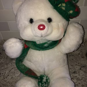 Christmas Plush Lighted White Teddy Bear for Sale in Wilmington, OH