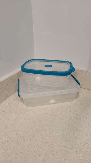 Teal Clear Plastic Containers for Sale in West Palm Beach, FL