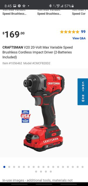 Craftsman V20 Lithium INO BRUSHLESS IMPACT WRENCH for Sale in Fresno, CA