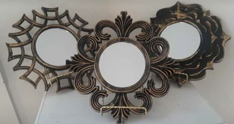 Gold brushed floral wall mirrors for Sale in Boston,  MA