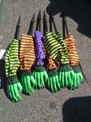 New Halloween Witch Hand Yard Stake All for $5 for Sale in El Cajon, CA