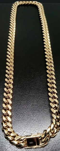 "18k Genuine Gold Bonded Stainless Steel 14mm 30"" Cuban Link Chain Brand New in Box for Sale in Boca Raton,  FL"