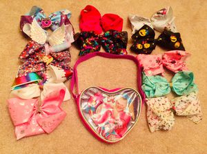 12 Authentic JoJo Siwa Hair Bows + JoJo Siwa Purse for Sale in Las Vegas, NV