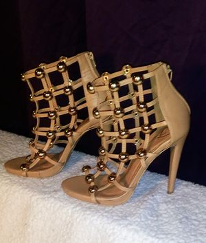 Womens Orange high heel shoes 10 for Sale in Poland, IN