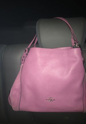 Purple Leather Coach Purse for Sale in North Richland Hills, TX