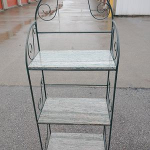 4ft 6in Tall Marble Slab Cast Iron Shelving for Sale in Columbus, OH