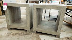 NEW PAIR Cube Accent Tables Weathered Finish: njft livingrm bedrm for Sale in Burlington, NJ