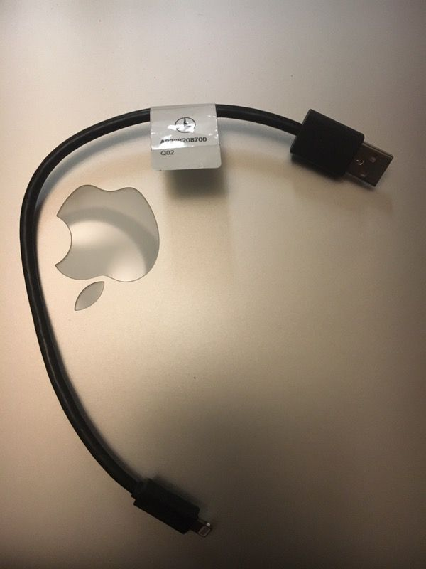 Mercedes Benz NEW OEM IPOD Lightning MEDIA Accessory Music Cable 2228200300