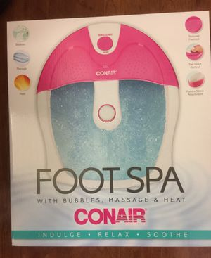 Brand new Conair foot spa with bubbles. massage & heat (pick up only) for Sale in Franconia, VA