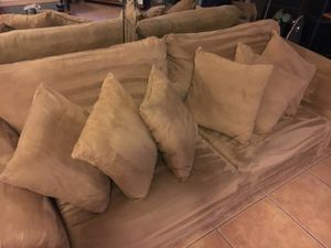 Two piece couch set with pillows for Sale in Franklin, TN