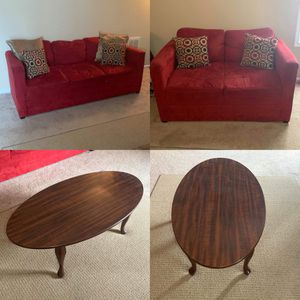 Furniture 3 Piece Set, 2 Couches & Coffee Table | READ F.A.Q for your Answers | for Sale in Greenville, NC