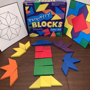 Learning Resources Parquetry Blocks Super Set Kids Girls Boys Educational School Toy for Sale in San Diego, CA