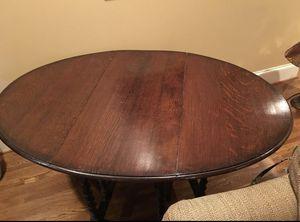 Antique English Oak barley twist gate leg dropleaf oval table for Sale in Arlington, VA