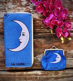 Lotería Luna Vinyl Wallet with Coin Bag (Blue) for Sale in McAllen,  TX