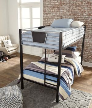💫💫Ashley Dinsmore Black/Gray Twin/Twin Bunk Bed for Sale in Jessup, MD