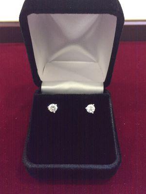 Diamond stud Earrings Ladies 14 K W for Sale in Carrollton, TX