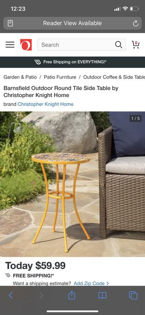 Outdoor tile round side table for Sale in Bonita, CA
