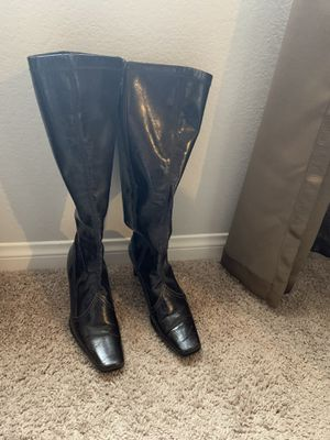 Beautiful boots women size 7 1/2 brown color Franco Sarto brand for Sale in Henderson, NV
