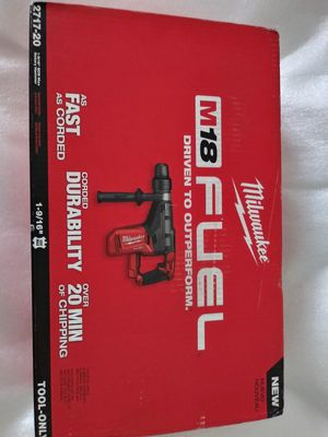 "NEW Milwaukee M18 Fuel Rotary Hammer *1""-9/16 SDS-MAX* for Sale in Kent, WA"