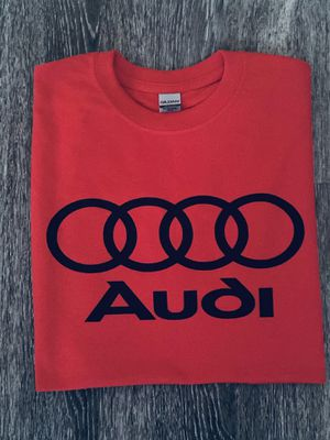 T-shirt custom vinyl logo Audi for Sale in Anaheim, CA